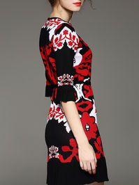 Pleated Knitted Midi Dress