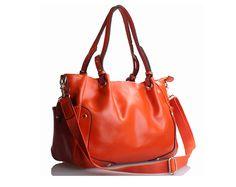Orange Leather Handbag / Handmade Purse / Shoulder Bag -  Bold Orange Etherealm Messenger Bag w/ Detachable Strap and Mystery Gifts