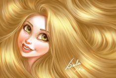 Disney Hair Edition: Rapunzel by Thiago Lehmann and Luiza McAllister Film Disney, Disney Tangled, Disney Fan Art, Disney Love, Disney Pixar, Disney Characters, Disney Artwork, Tangled Rapunzel, Disney Stuff