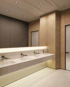 Light is the motion II on Behance Corporate Office Design, Office Interior Design, Office Interiors, Modern Restaurant, Huge Design, Restroom Design, Toilet Design, Washroom, Building Design