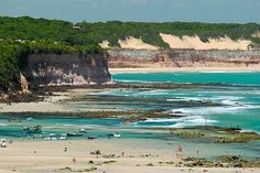 Pipa, Rio Grande do Norte - Brazil - backed by striking cliffs and conservation zone with large dolphin populations. Not overdeveloped area.