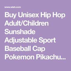 Buy Unisex Hip Hop Adult Children Sunshade Adjustable Sport Baseball Cap  Pokemon Pikachu Hat at a7c7342c1667