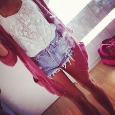 Cute for school. Cardigan to keep warm when cold in the morning. Shorts for when it is warm in the afternoon :)