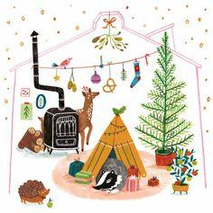 Teken-ing 'Card Christmas House'