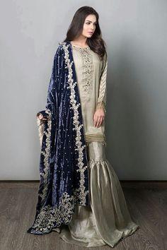 Maria B Chiffon Suit, Ladies Replica Shop, Embroidered Dresses. Pakistani Fancy Dresses, Pakistani Fashion Party Wear, Desi Wedding Dresses, Pakistani Wedding Outfits, Pakistani Dress Design, Beautiful Bridal Dresses, Pakistani Couture, Indian Dresses, Designer Party Wear Dresses