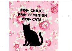 PRO choice feminism cats Patch by nastynasty on Etsy, $4.00