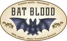 label - bat - blood - Halloween - Apothecary