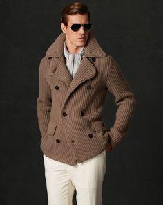 Club Monaco offers chic and stylish men's and women's clothing. Wrap Sweater, Sweater Jacket, Men Sweater, Madrid, Tweed Run, Gq Men, Sharp Dressed Man, Gentleman Style, Stylish Men