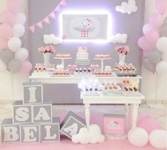 Ideas para decorar un Baby Shower para niña Shower Bebe, Girl Shower, Shower Party, Baby Shower Parties, Decoracion Baby Shower Niña, Decoration Buffet, Cloud Party, Baby Shawer, Baby Birthday