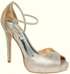 Badgley Mischka Violetta Pump,Platinum Metallic Leather
