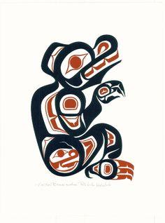 The Haida Bear represents motherhood and teaching.