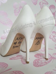 Harry Potter Wedding Shoe Decal / Severus Snape / Lily Potter / After All This Time? Always / Love / Marriage