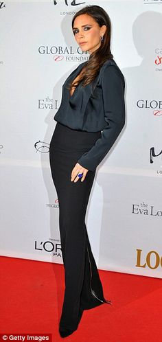 Streamline: Victoria's dress featured a fitted skirt while the top half was loose fitting