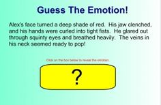 """Guess the Emotion games teaches students to """"Show, Don't Tell"""" in writing"""