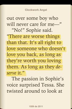 Great quote said by Sophie to Tessa.