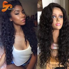 68.15$  Watch now - http://alibq0.worldwells.pw/go.php?t=32777334005 - 8A Water Wave Full Lace Human Hair Wigs For Black Women Brazilian Full Lace Wigs With Baby Hair Wavy Lace Front Human Hair Wigs 68.15$