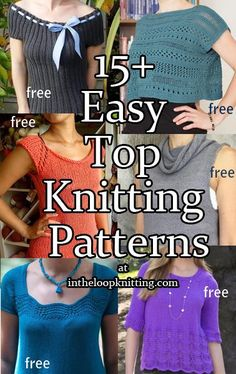Knitting patterns for easy tops