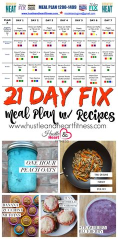 Eat Good Feel Good ... Meal Plan with Recipes! 1200-1499 Bracket - 21 Day fIX, Core De Force - Color Counting Meal Plan