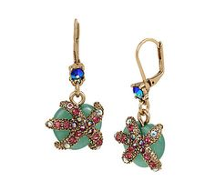 BETSEY AND THE SEA STARFISH DROP EARRINGS: Betsey Johnson