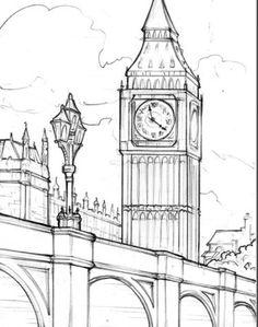 Ideas Travel Art Gcse - A Level Art Sketchbook Ideas Travel Art Gcse - A Level Art Sketchbook - mother superior Nathan Walsh, Contemporary British Realist Painter / Progress Carroll St Pencil Art Drawings, Art Drawings Sketches, Easy Drawings, Sketch Drawing, Drawing Ideas, London Sketch, London Drawing, City Drawing, Wall Drawing