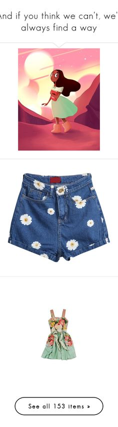 """""""And if you think we can't, we'll always find a way"""" by ouro-asunder ❤ liked on Polyvore featuring shorts, bottoms, short, pants, blue, loose jean shorts, blue floral shorts, floral jean shorts, jean shorts and loose denim shorts"""