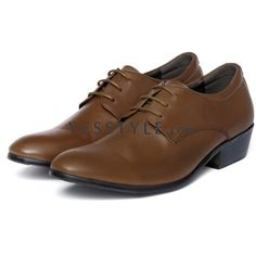 Genuine Leather Oxford Shoes (€25) ❤ liked on Polyvore featuring shoes, oxfords, leather lace up shoes, lace up shoes, leather oxfords, leather shoes and lace up oxfords