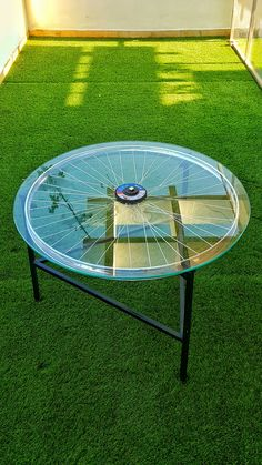 bicycle wheel coffee table