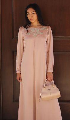 721e02e43166 Jasmin Embroidered Formal Long Sleeve Modest Evening Dress - Blush Pink