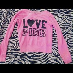 Victoria's Secret PINK Sweatshirt In perfect condition PINK Victoria's Secret Sweaters