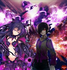 Touka (Date A Live) and Tohka (Tokyo Ghoul)