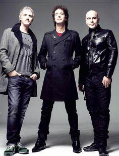 Charly, Gus y Zeta.   Soda Stereo, la mejor banda de rock en español de todos los tiempos.
