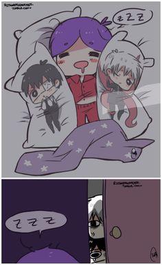 Tsukiyama Shuu and Kaneki Ken Dakimakura Pillows ||| Tokyo Ghoul Fan Art