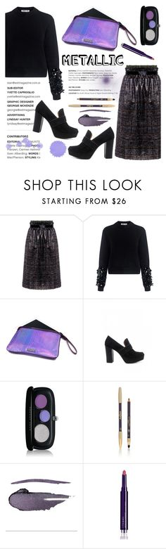 """""""Shine On: Metallic Makeup"""" by ifchic ❤ liked on Polyvore featuring beauty, Mother of Pearl, McQ by Alexander McQueen, Mohzy, 10 Crosby Derek Lam, Marc Jacobs, Sisley, NARS Cosmetics, By Terry and contestentry"""