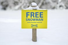 IKEA Snowman #AmbientMarketing