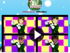 Zrób grającą kartkę z tańczącymi elfami  z Twoją twarzą :).
