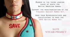 Graphic from the Save Wįyąbi original campaign to reauthorize VAWA