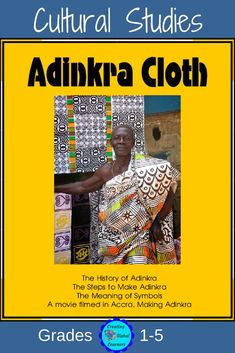 This PowerPoint takes young students through the entire process of making Adinkra cloth. When I was in Ghana, a man who owned an Adinkra factory let me take pictures and film him.  There is a movie to go with this that I will send to you via Dropbox once you purchase this PPT.|Social Studies| History|Informational Text|