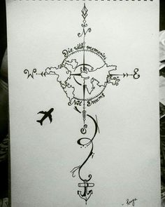 28 Ideas For Travel Drawing Compass Tattoo Designs Tattoo Drawings, Body Art Tattoos, Art Drawings, Tatoos, Map Tattoos, Globe Tattoos, Tattoos Skull, Tattoo Sketches, Tattoo Style