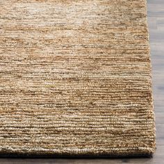 ORG214A Rug from Organica collection.  Fashion meets sustainability in Safavieh's new Organica collection of eco-friendly original designs hand-knotted of 100 percent high-quality jute pile on a