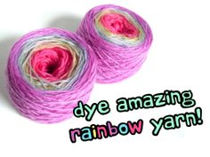 You remember tie-dye, right? The dye that you used to make funky-colored t-shirts when you were a kid? Would you believe that you can use tie-dye to create amazing yarn? It's true! In this post, I'll show you how to use Tulip Tie-Dye to create a uniquely-dyed rainbow yarn!