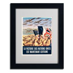 'Propaganda Poster from World War II' Matted Framed Vintage Advertisement