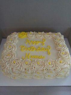 rosette sheet cake - Google Search