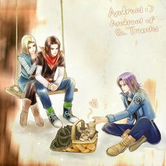 Android 17and 18(present),and trunks(future)...... and............................cats