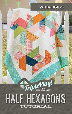 The Doan Girls are back with the latest Triple Play featuring our Half Hexagon template! This simple notion is so handy, they even stitched up a bonus project in addition to three new, unique designs including the Whirligigs quilt! Follow the link below to watch this incredible Triple Play Tutorial! #MissouriStarQuiltCo #MSQC #Quilting #Quilts #TriplePlay #HexagonQuilt #HalfHexagon #WhirligigsQuilt #HowToQuilt #Sewing #EasyCraftProjects #FabricCrafts #QuiltPatterns #QuiltingTutorial Hexagon Quilt, Quilt Block Patterns, Pattern Blocks, Quilt Blocks, Crochet Patterns, Missouri Star Quilt Tutorials, Quilting Tutorials, Quilting Projects, Quilting Ideas