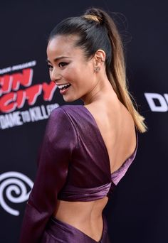 25 Pretty Ponytails Perfect for the Gym or Office Office Hairstyles, Celebrity Hairstyles, Ponytail Styles, Short Hair Styles, Stylish Ponytail, Beauty Games, Jamie Chung, Hair Trends, Gym