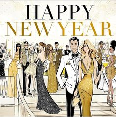 Megan Hess Fashion Art & Design- Happy New Year