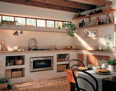 √ Scandinavian Kitchen Design For Your Lovely Home - Boxer JAM Rustic Kitchen, Kitchen Decor, Kitchen Grey, Kitchen Walls, Concrete Kitchen, Tuscan Decorating, Küchen Design, Design Ideas, Interior Design Kitchen