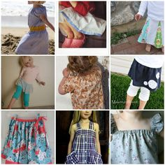 lots of sewing tutorials for little girls
