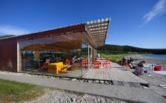 Strandbaren (The Beach Bar) - Stokkøya Sjøsenter, Norway Small Luxury Hotels, Luxury Homes, Cosy Cafe, Hotel Bed, Boutique Homes, Beach Bars, Best Location, Bed And Breakfast, Rustic Furniture