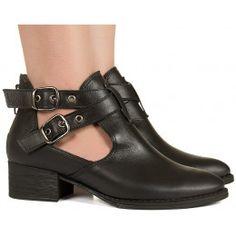 Sapato Oxford Bota Feminina Cano Curto Camurça Selten